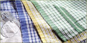 Coloured Check Tea Towel